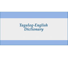 Tagalog/English Dictionary