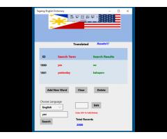 Tagalog/English Dictionary