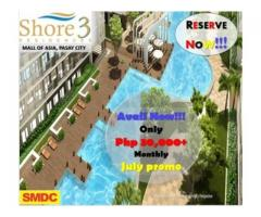 SMDC Shore 3 Residences in MOA Complex for sale near Manila bay