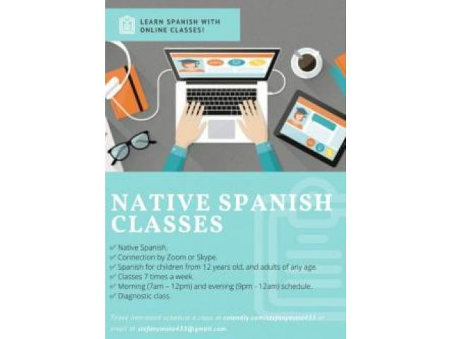 【SPANISH TUTOR - 100 NATIVE】ᐈ Personalized classes of 1h