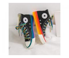 WOMENS FASHION 2020 VULCANIZED SHOES WOMAN SNEAKERS NEW RAINBOW RETRO CANVAS SHOES