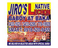 JIROS NATIVE LECHON BABOY AND BAKA