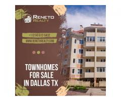 townhomes for sale in Dallas TX