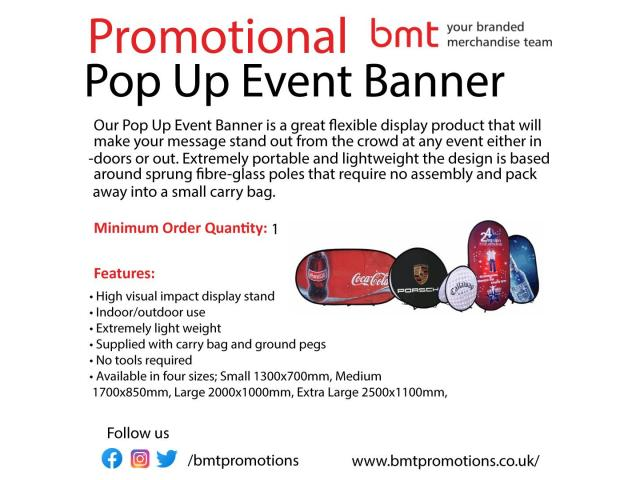 Promotional Pop Up Event Banner