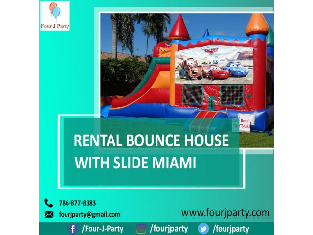Rental Bounce House with Slide Miami