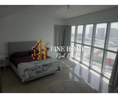 Furnished 2 BR Apartment Sea Full View in Al Reem Island