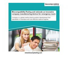 Biocompatibility Testing and rationale an innovative company manufacturing devices for emergency roo