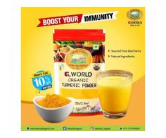 We offer Elworld Organic Turmeric Powder At the best Price  Order Now!